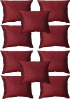 Home Shine Plain Cushions Cover(40 cm*40 cm, Maroon)