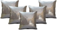 StyBuzz Self Design Cushions Cover(Pack of 5, 40.64 cm*40.64 cm, Silver)