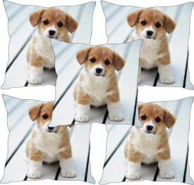 Sleepnature's Printed Cushions Cover(Pack of 5, 30.63 cm*30.63 cm, Multicolor)