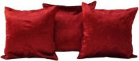 Snuggle Plain Cushions Cover(Pack of 3, 30 cm*30 cm, Maroon)