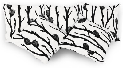 Story@home Floral Cushions Cover(Pack of 5, 40 cm*5.199888 cm, White)