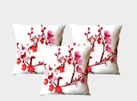 La Verve Floral Cushions Cover(Pack of 3, 40 cm*40 cm, Multicolor)