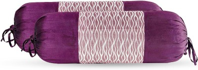 Zaffre,s Striped Bolsters Cover(Pack of 4, 38 cm*76 cm, Purple)