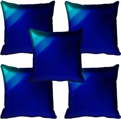 meSleep Plain Cushions Cover(Pack of 5, 40.64 cm*40.64 cm, Blue)