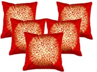 Belive-Me Printed Cushions Cover(Pack of 5, 40 cm*40 cm, Red)