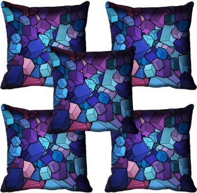 meSleep Abstract Cushions Cover(Pack of 5, 40.64 cm*40.64 cm, Multicolor)