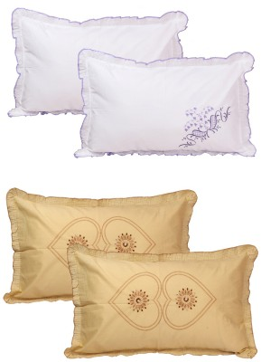 The Intellect Bazaar Embroidered Pillows Cover