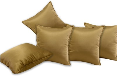Story@home Plain Cushions Cover(Pack of 5, 40 cm*5.199888 cm, Brown)
