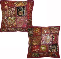 Lal Haveli Abstract Cushions Cover(Pack of 2, 41 cm*41 cm, Red)