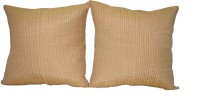Home Shine Plain Cushions Cover(Pack of 2, 60 cm*60 cm, Beige)