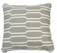 De Home Geometric Cushions Cover(Pack of 2, 45 cm*45 cm, Grey, White)
