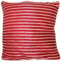 ZigmaCollections Striped Cushions Cover(Pack of 5, Red)