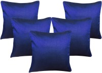 Decor Bazaar Plain Cushions Cover(Pack of 5, 40 cm*40 cm, Dark Blue)