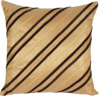 Zikrak Exim Striped Cushions Cover(40 cm*40 cm, Beige, Brown)