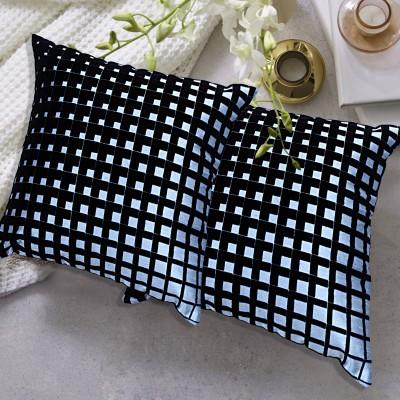 TEX N CRAFT Self Design Pillows Cover