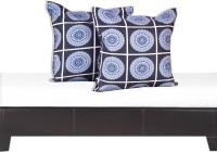 Salona Bichona Geometric Cushions Cover(Pack of 2, 40 cm*40 cm, Grey)