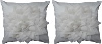Home Shine Floral Cushions Cover(Pack of 2, 40 cm*40 cm, White)