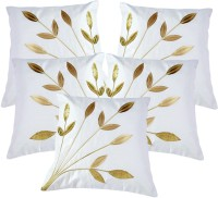 Belive-Me Floral Cushions Cover(Pack of 5, 40 cm*40 cm, White)