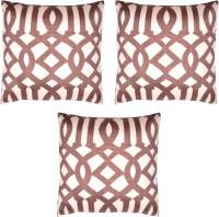HOMEWARDS Geometric Cushions Cover(Pack of 3, 40 cm*40 cm, Brown)