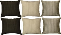 Home Shine Striped Cushions Cover(Pack of 6, 40 cm*40 cm, Multicolor)