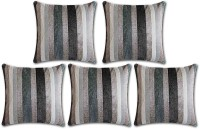 Desirica Striped Cushions Cover(Pack of 5, 40 cm*40 cm, Multicolor)