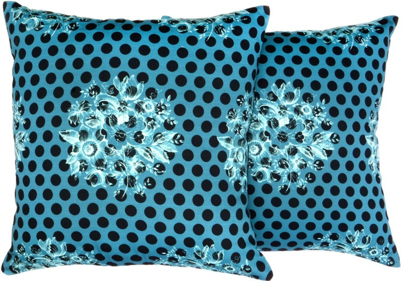 DKraft Polka Cushions Cover(Pack of 2, 40 cm*40 cm, Multicolor)