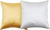 JBK Arts Plain Cushions Cover(Pack of 2, 30 cm*30 cm, Gold, White)