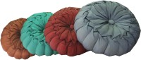 Adishma Plain Cushions & Bolsters Cover(Pack of 4, 30 cm*30 cm, Green, Brown, Maroon, Silver)