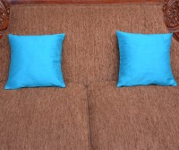 Home Kouture Plain Cushions Cover(Pack of 2, 30.48 cm, Blue)