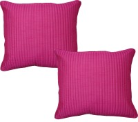 Home Shine Striped Cushions Cover(Pack of 2, 40 cm*40 cm, Pink)