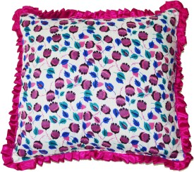 KhyanaDecorStore Printed Cushions & Pillows Cover(Pack of 5, 43 cm*43 cm, Pink, White, Blue)