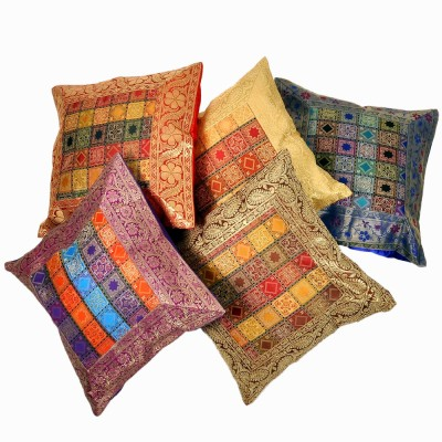 Jaipur Raga Checkered Cushions Cover