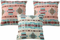 Ambbi Collections Abstract Cushions Cover(Pack of 3, 40 cm*40 cm, Multicolor)