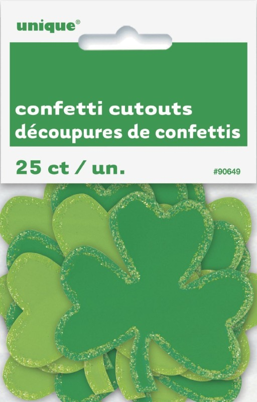 Unique Shamrock Saint Patrick's Day Decorations Paper Cut-outs(25)