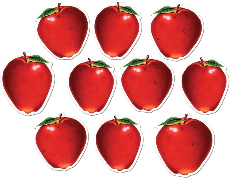 Beistle Mini Apple Cutouts Paper Cut-outs(10)
