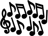 Beistle Musical Note Silhouettes Paper C...