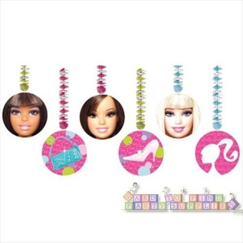 Amscan Barbie Dangling Cutouts 3 per pack Plastic Cut-outs(6)