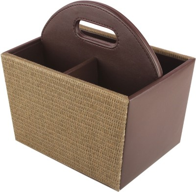 Belmun Empty Cutlery Display Box Case(Beige Jute Finish  Holds 40 pieces)