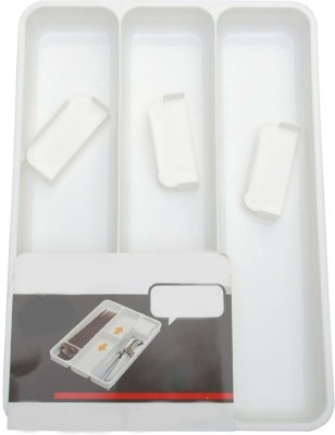 Shrih Empty Cutlery Box Case(White  Holds 12 pieces)