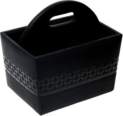 Belmun Empty Cutlery Display Box Case(Textured embossed Black  Holds 80 pieces)