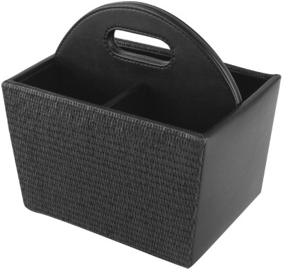 Belmun Empty Cutlery Display Box Case(Black Jute Finish  Holds 40 pieces)