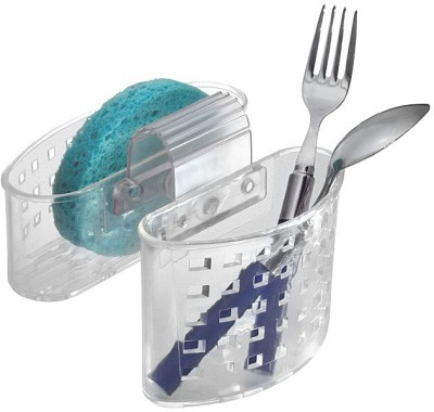 Interdesign Empty Cutlery Hanging Pouch Case Case(Clear  Holds 6 pieces)