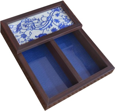 Craftghar Empty Cutlery Box Case(Blue Multani  Holds 12 pieces)