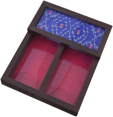 Craftghar Empty Cutlery Box Case(Patola Blue  Holds 12 pieces)