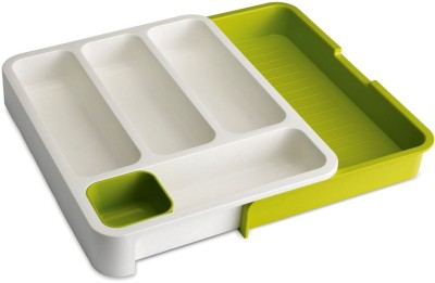 Evana Empty Cutlery Box Drawer Case(Green  Holds 50 pieces)