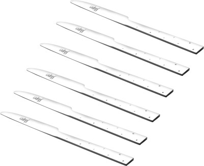 Shapes White Dotted Stainless Steel Table Knife Set