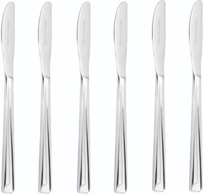 Sanjeev Kapoor Sleek Stainless Steel Dessert Knife Set(Pack of 6)