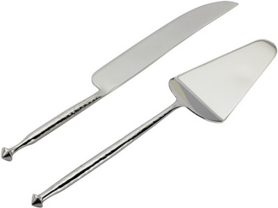 Sage Koncpt Hammered cake server & knife set Stainless Steel Bread Knife Set(Pack of 2)