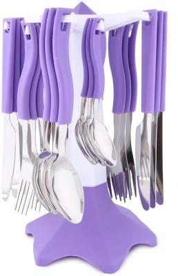Jen Trendy Plastic, Steel Cutlery Set(Pack of 24)
