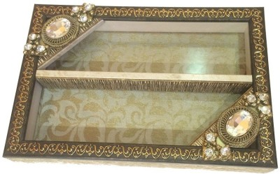 Aradhana Arts Cream And Gold Plastic Cutlery Set